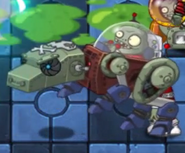Mechanical Wolf Zombie Running
