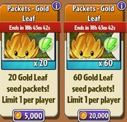 WAIT WHAT ! Gold Leaf with upgrade Seed Packets
