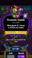 Fireworks Zombie stats