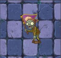 Зомби-крестьянин с флагом