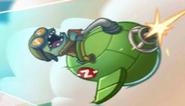 Flying Zombie Fighter in Screen Loading