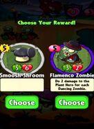 Choice between Smoosh-Shroom and Flamenco Zombie p