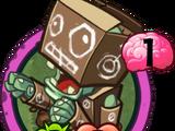 Картонный зомби-робот