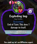 Exploding imp Old stats