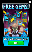 Dr. Zomboss is Gem Farming