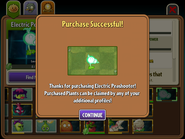 Electric Peashooter Purchased