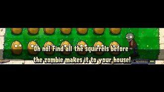 Plants vs. Zombies Мини-игра Белка