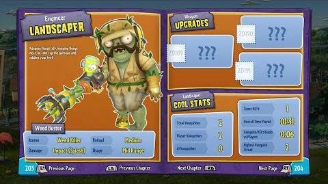 Landscaper (In-Game) 18 Plants vs Zombies Garden Warfare
