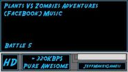 Plants VS Zombies Adventure (FaceBook) Music - Battle 5-0