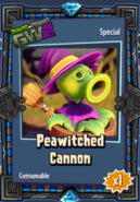 Peawitched Cannon Sticker