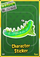 Toxic Chomper Sticker
