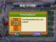 Getting Primal Sunflower's First Costume