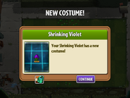Getting Shrinking Violet's Second Costume