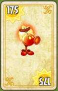 Fire Peashooter Costume Card