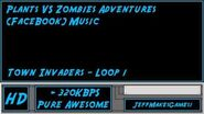 Plants VS Zombies Adventure (FaceBook) Music - Town Invaders - Loop 1-0