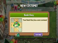 Getting Bonk Choy Birthday Costume