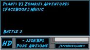 Plants VS Zombies Adventure (FaceBook) Music - Battle 2-0