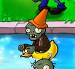 DuckyTubeConeheadZombie