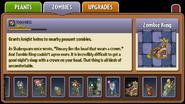Zombie King Almanac Entry