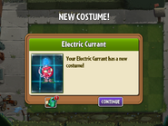 Getting Electric Currant's Second Costume