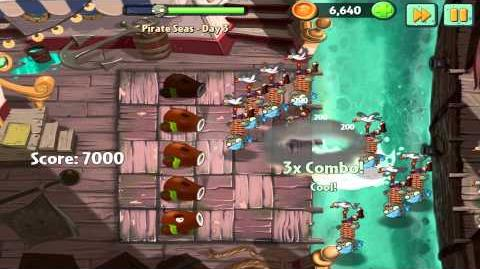 Plants vs Zombies 2 Pirate Seas Day 3 Walkthrough