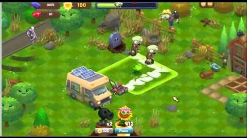 Plants vs Zombies Adventures Part 8 Facebook game - Power Sunflower Glitch Bug - (no longer working)