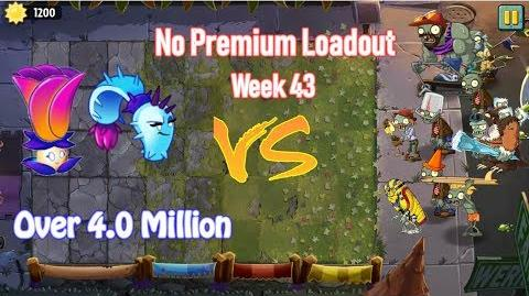 Plants Vs Zombies 2 Battlez Week 43 Over 4.0 Mill No Premium Loadout (Electric Peashooter)