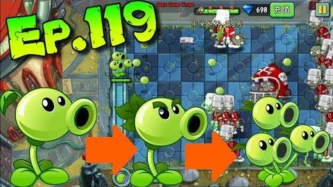 Plants vs. Zombies 2 (China) - All by Oneself One plant VS Zombies - Far Future Day 5 (Ep