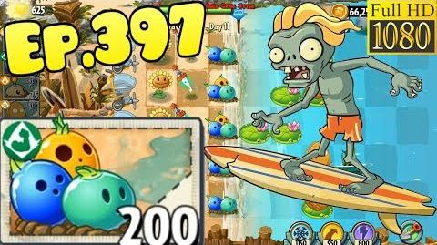 Plants vs. Zombies 2 New Surfer Zombie Got Bowling Bulb - Big Wave Beach Day 11 (Ep