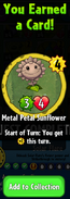 Earning Metal Petal Sunflower