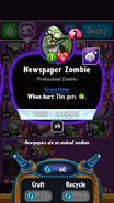 Newspaper Zombie stats