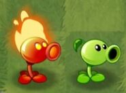 Peashooter and Fire Peashooter