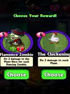 Choice between Flamenco Zombie and The Chickening