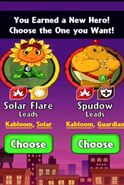 Choice between Solar Flare and Spudow