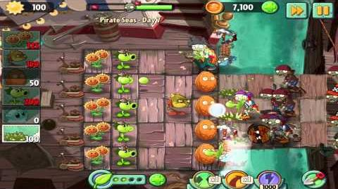 Plants vs Zombies 2 Pirate Seas Day 7 Walkthrough