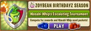 Wasabi Whip Escalating Tournament Main Menu