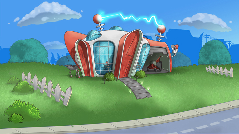 Lovely House Of the Future Cartoon