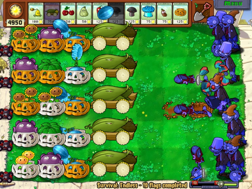 Survival: Day (Endless) | Plants vs  Zombies Wiki | FANDOM