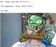 Conman mad flag zombie