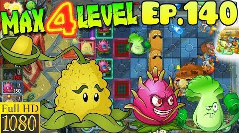 Plants vs. Zombies 2 (China) - Kernel-pult MAX 4 level - Far Future Day 24 (Ep