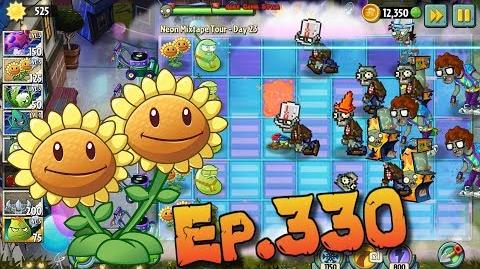 Plants vs. Zombies 2 Twin Sunflower and Laser Bean - Neon Mixtape Tour Day 23 (Ep
