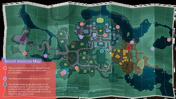 Secret invoices map