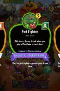 Pod fighter conjured by photosynthesizer