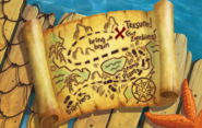 Pirate Seas Treasure Map