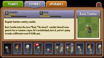 Basic Zombie Almanac Entry