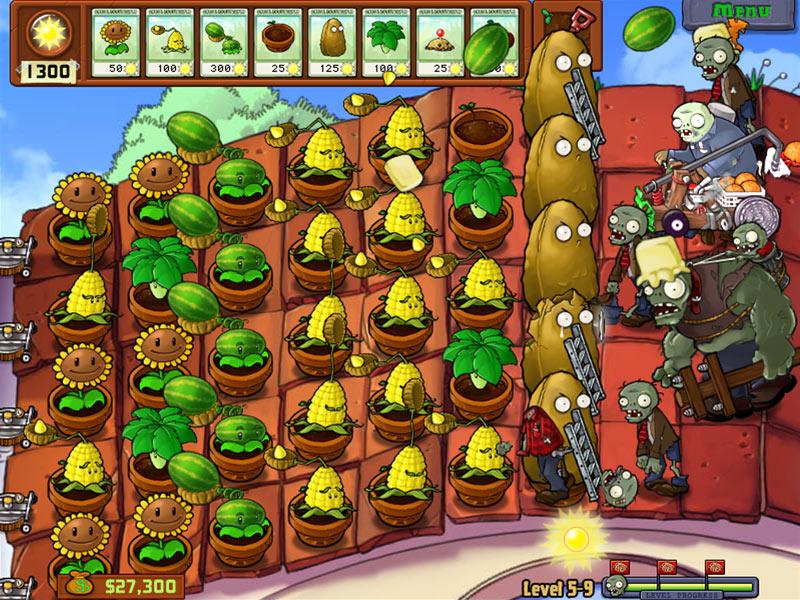 plante verte contre zombie