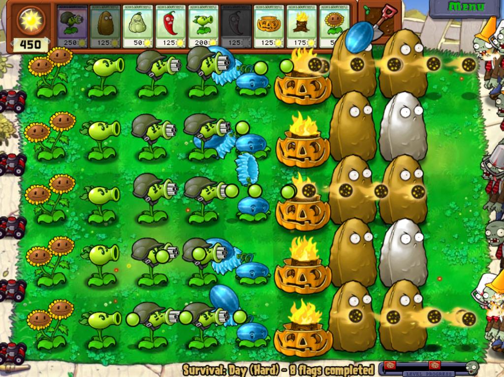 Image survival hard plants vs zombies wiki for Jardin zen plantas vs zombies