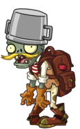 Buckethead Adventurer Zombie
