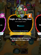Knight of the Living Dead Conjured by Escape Through Time
