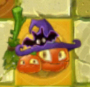 Pumpkin Witch Gold Tile